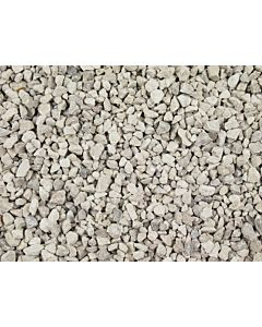 14MM LIMESTONE CHIPPINGS WHITE BULK BAG