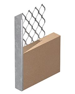 PLASTER STOP BEAD GALVANISED 13MM 3MTR 563