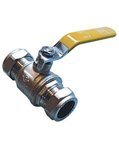 15MM YELLOW LEVER BALL VALVE GAS BOARD APPROVED 305715