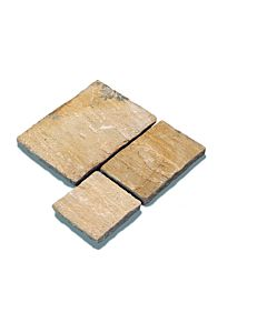 PAVESTONE NATURAL SANDSTONE PAVING 600 X 600MM GOLDEN FOSSIL CALIBRATED 18MM SINGLE SIZE