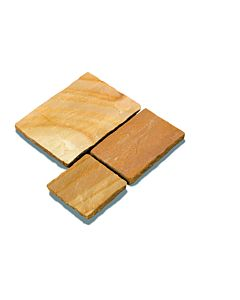 PAVESTONE NATURAL SANDSTONE PAVING MODAK 20.7M2 CB CALIBRATED 18MM PROJECT PACK (4 SIZES 600 GAUGE)