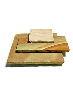 PAVESTONE NATURAL SANDSTONE PAVING BUFF 20.7M2 CALIBRATED 18MM PROJECT PACK (4 SIZES 600 GAUGE)