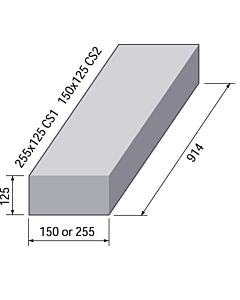 SQUARE CHANNEL STRAIGHT 150x125 CS2 914 LONG