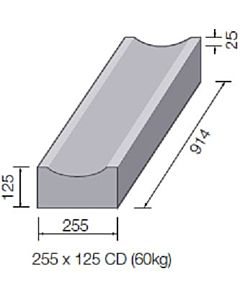 DISHED CHANNEL STRAIGHT 255x125 CD 914MM LONG A0072