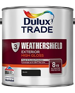 Dulux Trade Weathershield Gloss Paint Black 2.5L