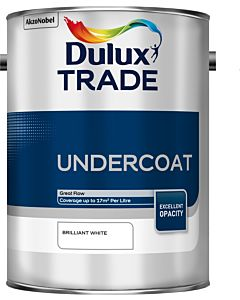 DULUX TRADE UNDERCOAT BRILLIANT WHITE 5L