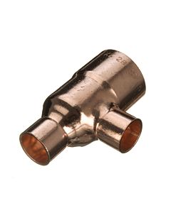 28MM X 28MM X 22MM COPPER END FEED REDUCED TEE N25