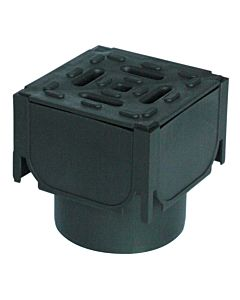 ACO HEXDRAIN CORNER UNIT WITH BLACK PLASTIC