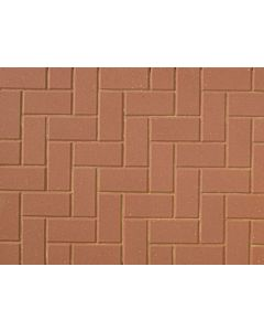 Brett Omega block paving 200x100x50mm - Red