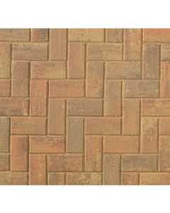 Brett Omega block paving 200x100x50mm - Autumn Gold