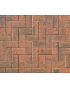 Brett Omega block paving 200x100x60mm - Brindle