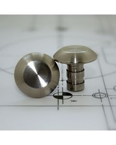 TACTILE STUD 25mm PLAIN STAINLESS STEEL