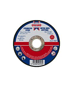 Faithfull Metal Cut Off Disc  115 x 1.2 x 22mm
