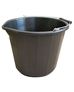 BUILDERS BLACK BUCKET 11.4LTR 5399