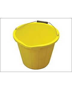 YELLOW SITE BUCKET 3 GAL HEAVY DUTY