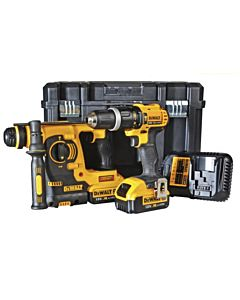 DEWALT TWIN COMBI PACK WITH ROTARY HAMMER DRILL & COMPACT HAMMER DRILL DCK206M2T