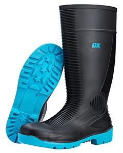 OX SAFETY WELLINGTON BOOTS STEEL TOE (SIZE 8)