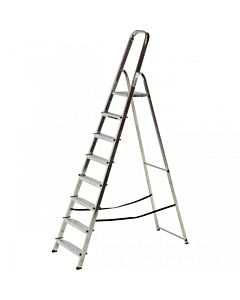 YOUNGMAN ATLAS PLATFORM STEP LADDER 8 TREAD OPEN HEIGHT - 2.41MTR