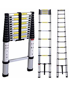 CLICK'N'CLIMB TELESCOPIC LADDER 3.8MTR