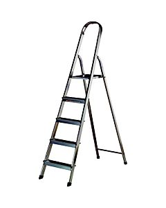 PREP ALUMINIUM STEP LADDER  5 TREAD + PLATFORM 14250006