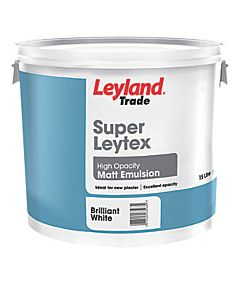 LEYLAND SUPER LEYTEX MATT BRILLIANT WHITE 15LTR