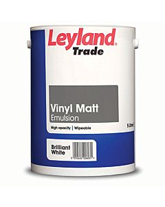 LEYLAND TRADE VINYL MATT BRILLIANT WHITE 10LTR