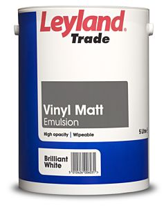 LEYLAND TRADE VINYL MATT BRILLIANT WHITE 5LTR