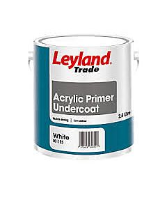 LEYLAND TRADE  ACRYLIC  PRIMER UNDERCOAT WHITE 750ML