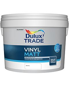 Dulux Trade Vinyl Matt Emulsion Interior Paint 10L White