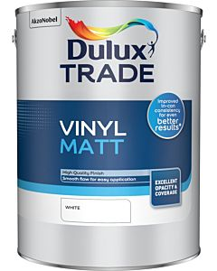 Dulux Trade Vinyl Matt Emulsion Interior Paint 5L White