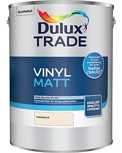 Dulux Trade Vinyl Matt Emulsion Interior Paint 5L Magnolia