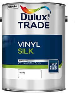 Dulux Trade Vinyl Silk Emulsion Interior Paint 5L White
