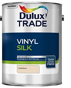 Dulux Trade Vinyl Silk Emulsion Interior Paint 5L Magnolia