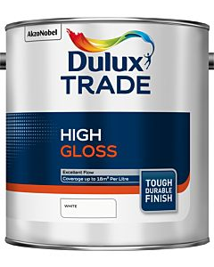 Dulux Trade High Gloss Paint 2.5L White
