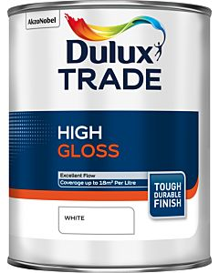 Dulux Trade High Gloss Paint 1L White