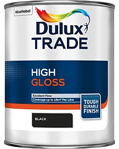 Dulux Trade Gloss Paint Black 1L