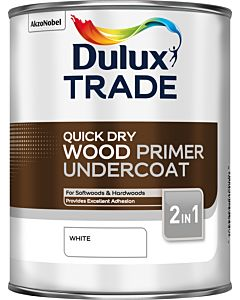 Dulux Trade Quick Drying Wood Primer Undercoat 1L