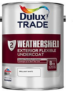 DULUX TRADE W/SHIELD UNDERCOAT BRI. WHITE 5LTR EXTERIOR WEATHERSHIELD