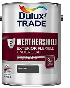 DULUX TRADE W/SHIELD UNDERCOAT DARK GREY 5LTR EXTERIOR WEATHERSHIELD