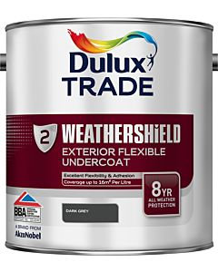 DULUX TRADE W/SHIELD UNDERCOAT DARK GREY 2.5LTR EXTERIOR WEATHERSHIELD