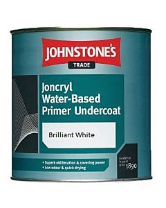 JOHNSTONE JONCRYL ACRYLIC PRIMER/UNDERCOAT 1LTR (WATER BASED B/WHITE)