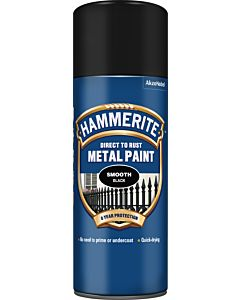 HAMMERITE SMOOTH METAL SPRAY BLACK 400ML