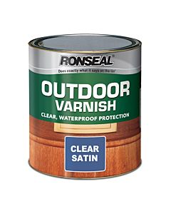 RONSEAL OUTDOOR VARNISH CLEAR SATIN 750ML