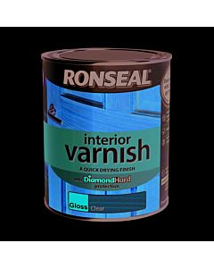 RONSEAL Q/D INTERIOR VARNISH CLEAR GLOSS 750ML