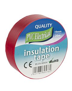 INSULATING TAPE 19MM X 20M RED