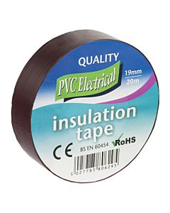 INSULATING TAPE 19MM X 20M BROWN