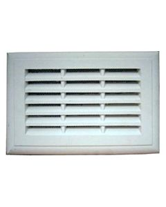 PLASTER LOUVRE VENT WITH FLYSCREEN 9 X 6