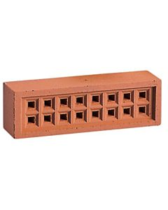 "REDBANK CLAY SQ HOLE AIRBRICK 220X70 RED 9X3"" FREE AIR SPACE 1300mm2"""