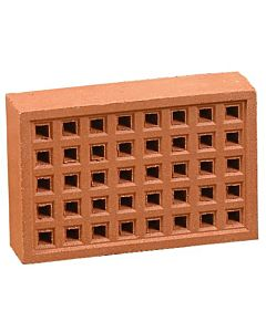 "REDBANK CLAY SQ HOLE AIRBRICK 220X145 RED 9X6"" FREE AIR SPACE 2890mm2"""