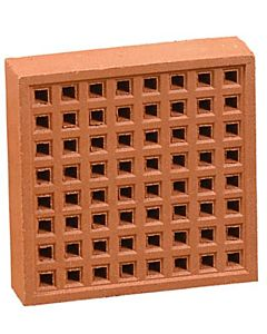 "REDBANK CLAY AIRBRICK 220X220 RED (9X9"") FREE AIR SPACE 4500mm2"""